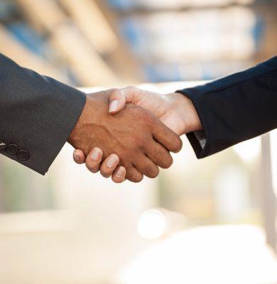 Handshake,blurry background